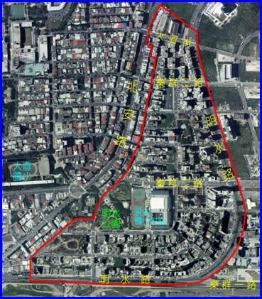 中山區第七期航照位置圖