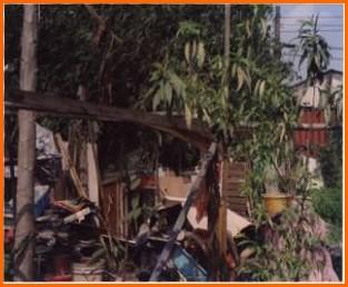 中山區第三期重劃前,雜物棄置,居家環境凌亂