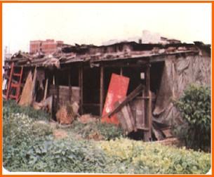 中山區第五期重劃前,雜草叢生,廢棄物堆積之一
