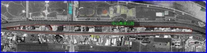 中山區第八期航照位置圖