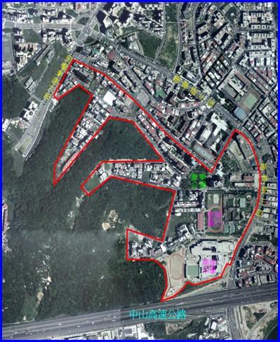 內湖區第三期航照位置圖
