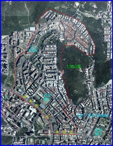內湖區第二期航照位置圖