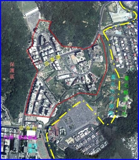 內湖區第八期航照位置圖