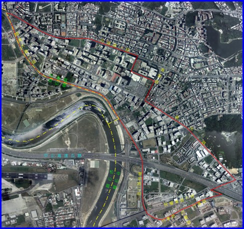 內湖區第六期航照位置圖