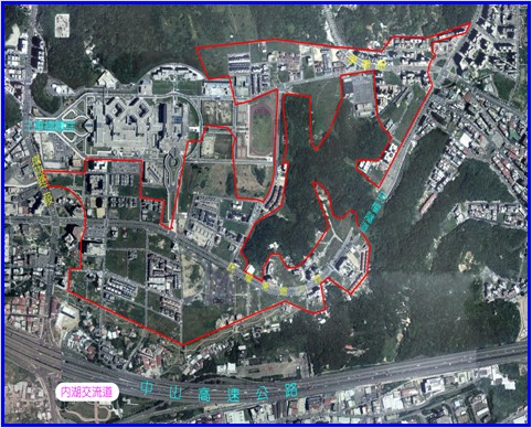 內湖區第四期航照位置圖
