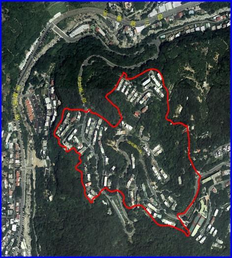 士林區第一期航照位置圖