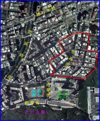 士林區第三期航照位置圖