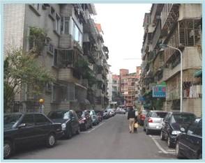 士林區第三期重劃後,街廓整齊,建築方整