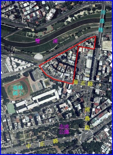 士林區第四期航照位置圖