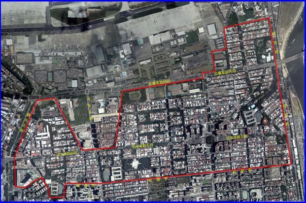松山區第一期航照位置圖