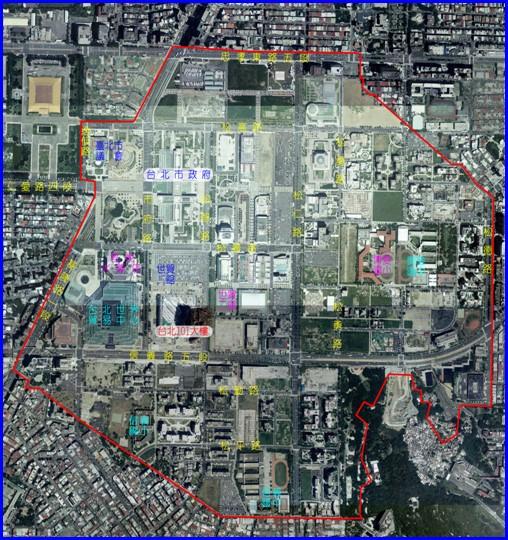 松山區第二期航照位置圖