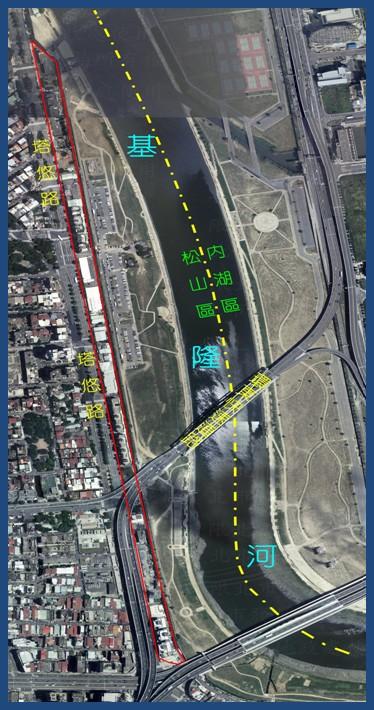 松山區第五期航照位置圖