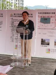 郝市長龍斌於101年12月27日親臨「影視音產業園區」基地正式宣佈啟動「影視音產業之開發」