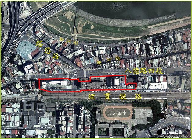 八德路饒河街口航測影像圖