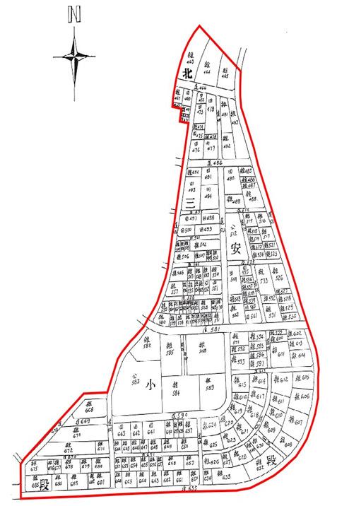 開新視窗-中山區第七期重劃後地籍圖
