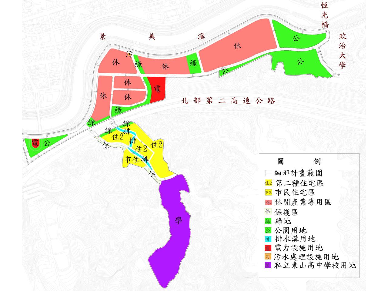 開新視窗-老泉里附近地區擬辦區段徵收土地使用分區圖