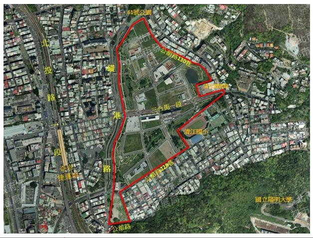 奇岩新社區區段徵收範圍航測影像圖