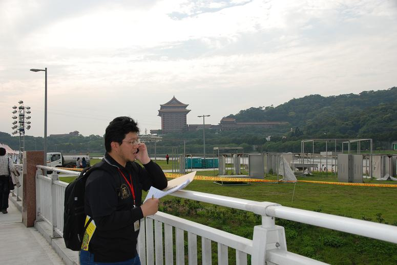 (另開視窗)本臺記者於花博大佳園區連線播報導現場情形