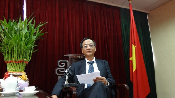 駐臺北越南經濟文化辦事處代表裴仲雲錄製賀詞2