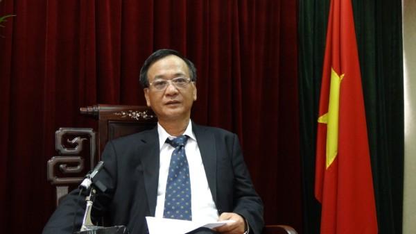 駐臺北越南經濟文化辦事處代表裴仲雲錄製賀詞3