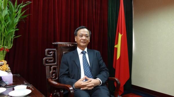 駐臺北越南經濟文化辦事處代表裴仲雲錄製賀詞4