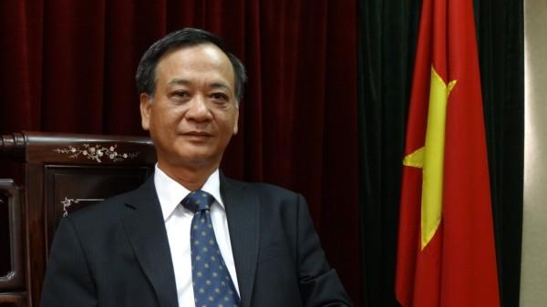 駐臺北越南經濟文化辦事處代表裴仲雲錄製賀詞5