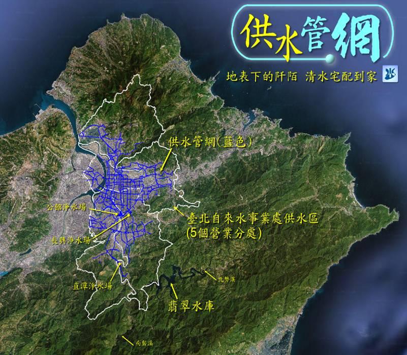 臺北管網分佈圖