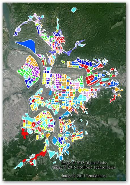 臺北目前劃設的小區-580個(截至2011年初)
