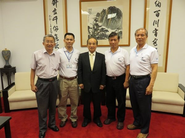 北水工會幹部與時任立法院院長王金平會面照片