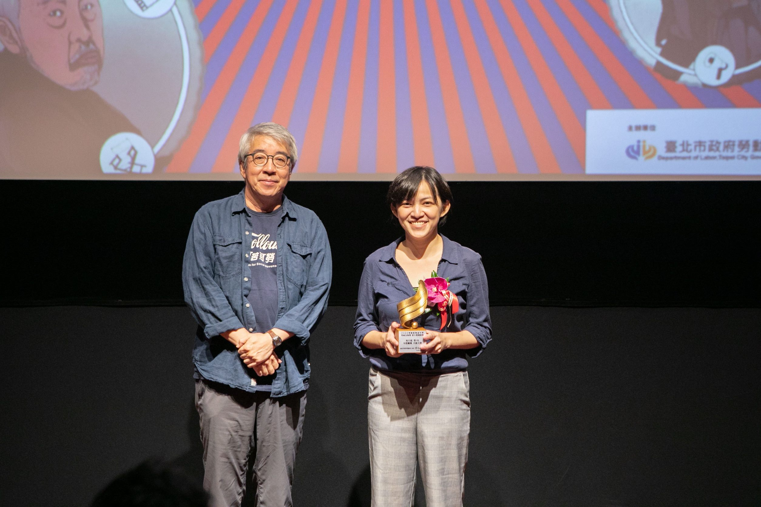 郭力昕評審頒發短片組第3名予陳愛蓉執導《不當蠟燭 不做天使》