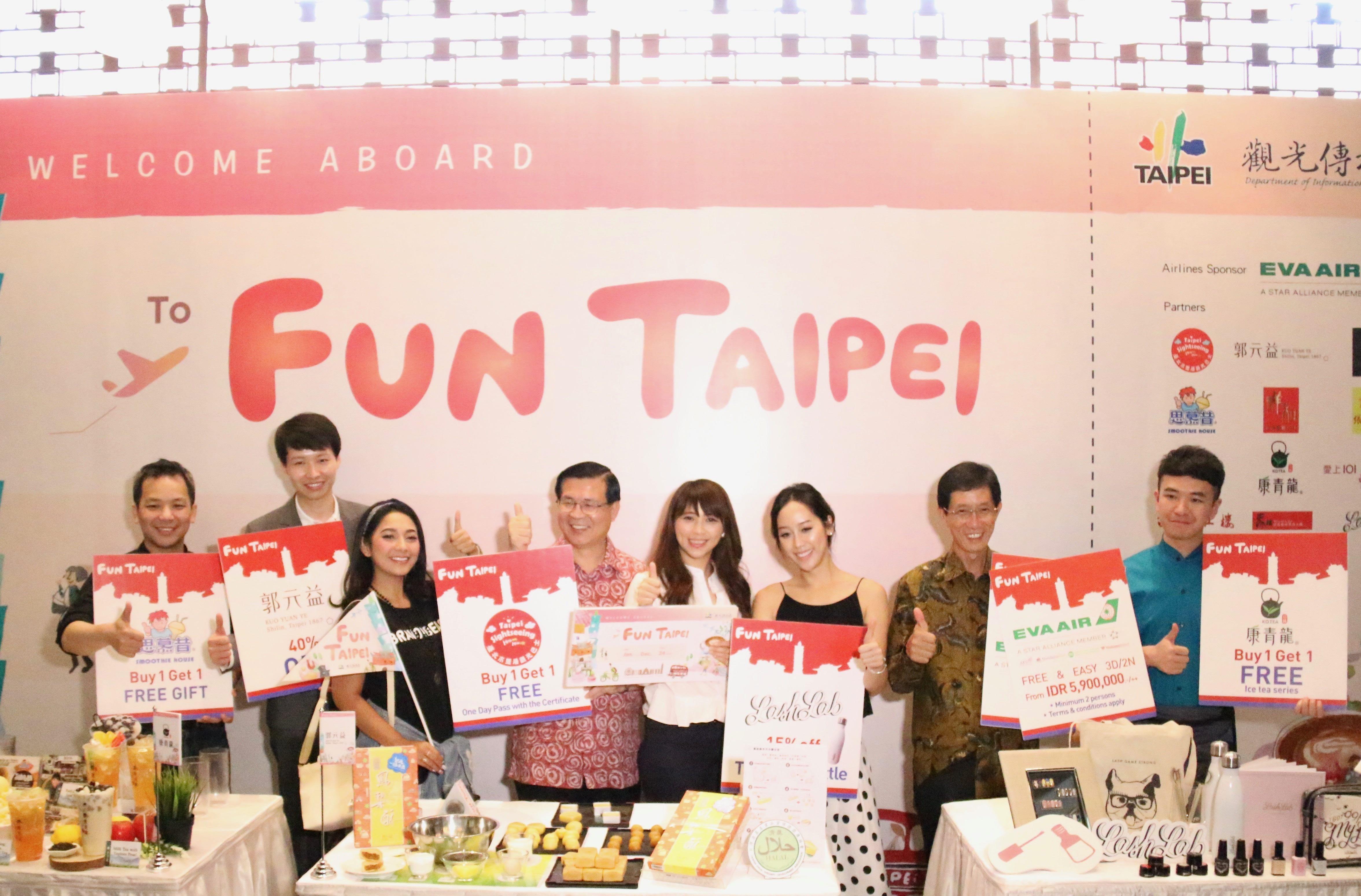 臺北市觀傳局結合航空公司、旅行業者及店家於印尼推出FunTaipei優惠產品,並推出電子手冊優惠券,響應智慧旅遊