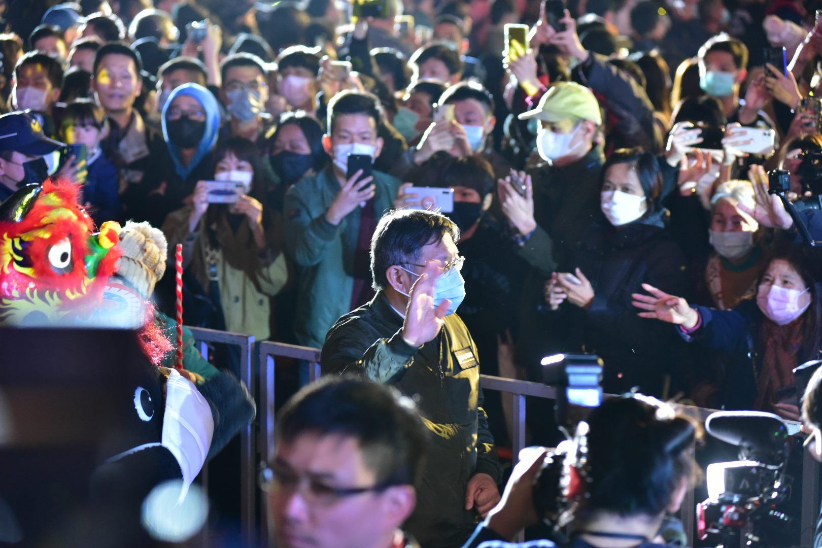 市長柯文哲臺北燈節大進場。