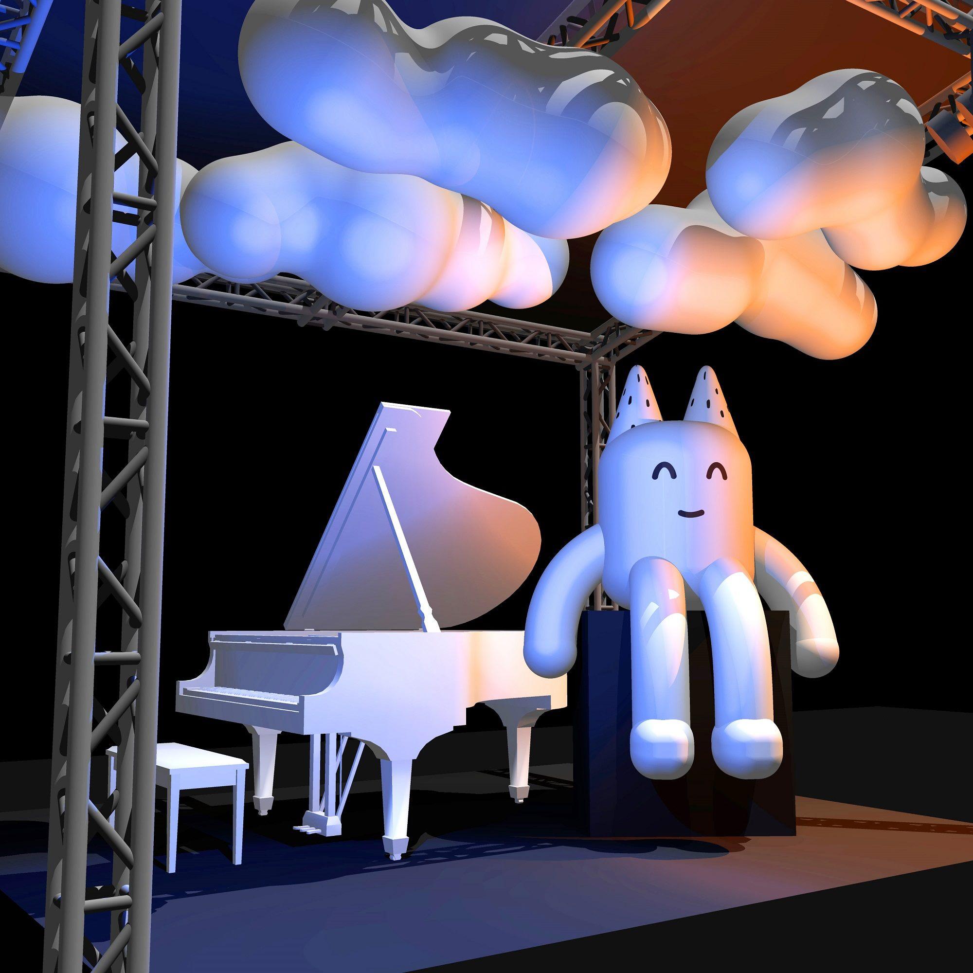 熱愛音樂的TOFU,會隨著樂曲的起伏舞出不同的顏色變化。