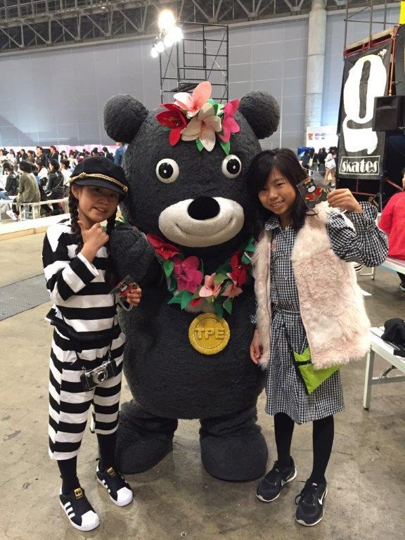 熊讚以臺北市市花杜鵑花裝扮出現,可愛模樣十分吸睛,深受日本小朋友爭相搶拍