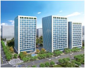 內湖科技園區產業支援設施BOT開發案建物模擬圖