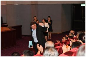 駐台北以色列經濟文化辦事處代表游亞旭出席交流。