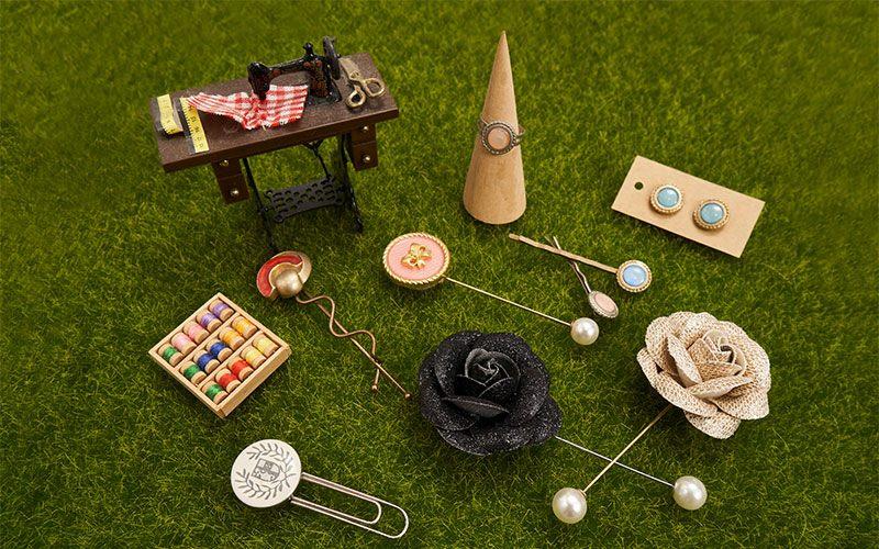 運用巧思,鈕扣也可以變化成各種飾品。
