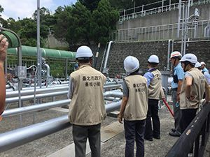 The joint safety task force inspecting gas equipment (1)