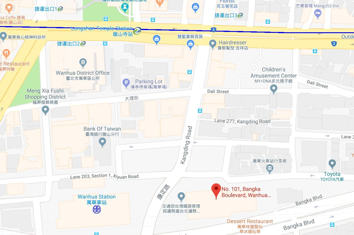 Map of Wanhua Station Building