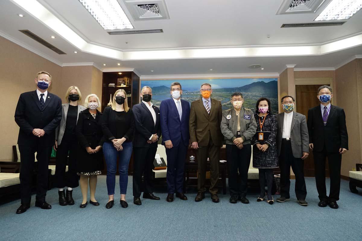 Representative of German Institute Taipei, Dr. Thomas Prinz, visited Mayor Ko