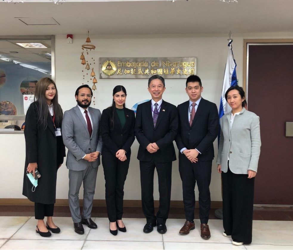 Amb. Chou Visited the Embassy of the Republic of Nicaragua