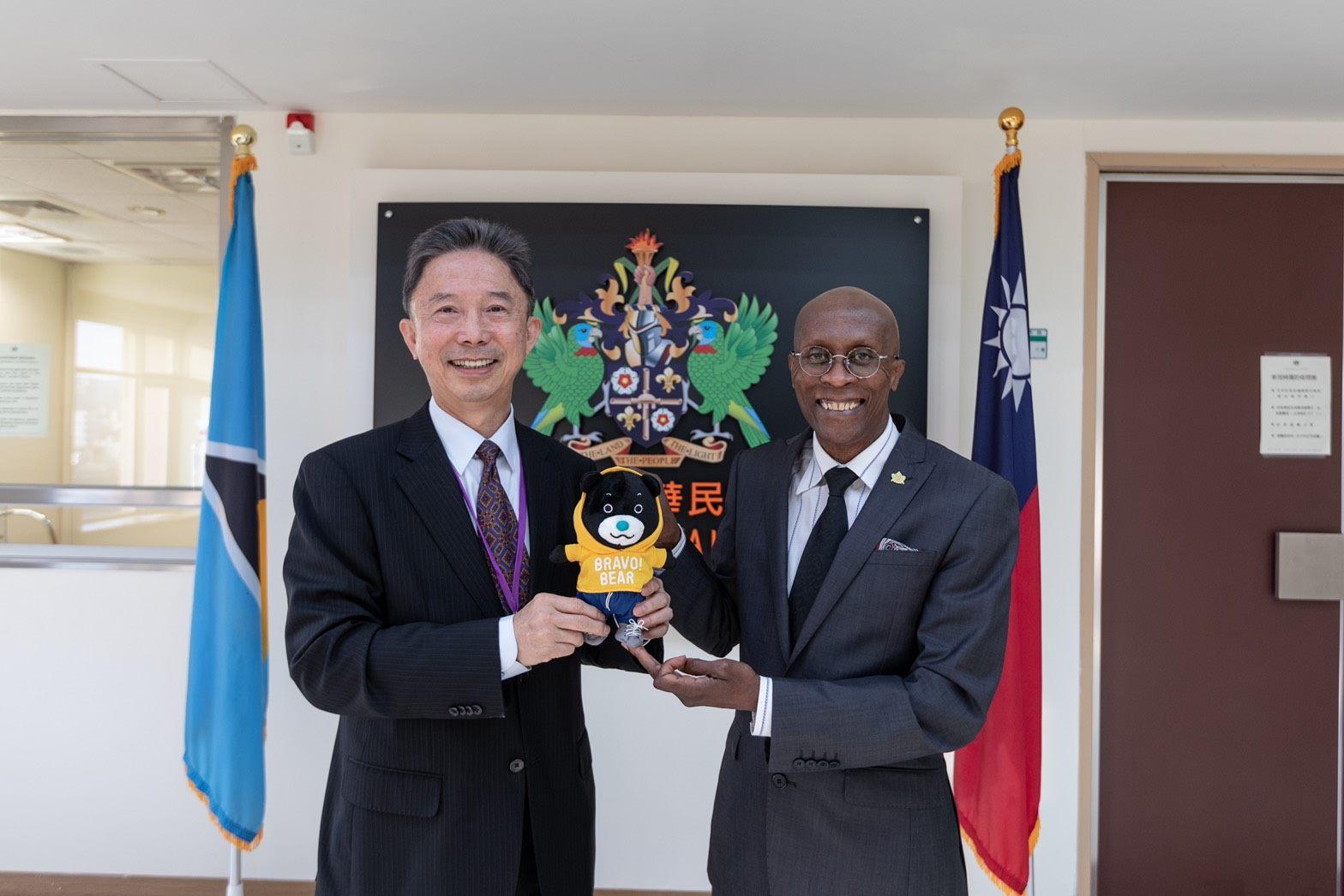 Ambassador Tom Chou visited the Embassy of Saint Lucia