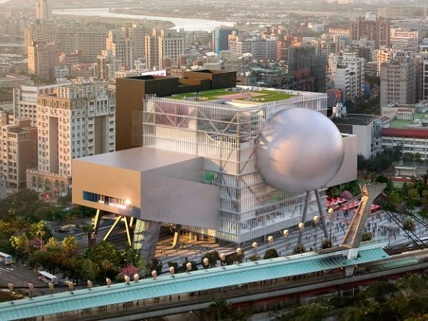 臺北藝術中心模擬外觀透視圖