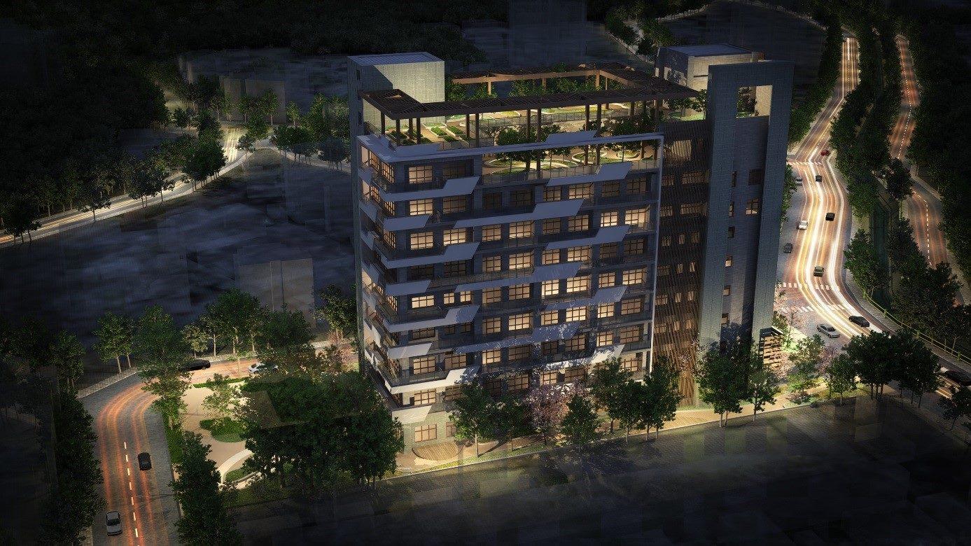 圖4北投區稻香合署大樓西南角夜間俯瞰圖