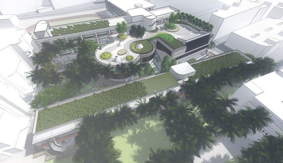 臺北市立景美女中綜合大樓新建工程全區鳥瞰圖