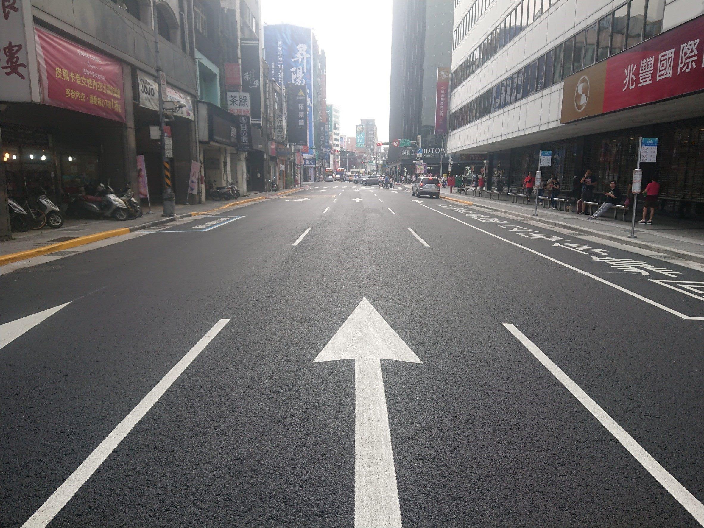 臺北市衡陽路路面更新後情形