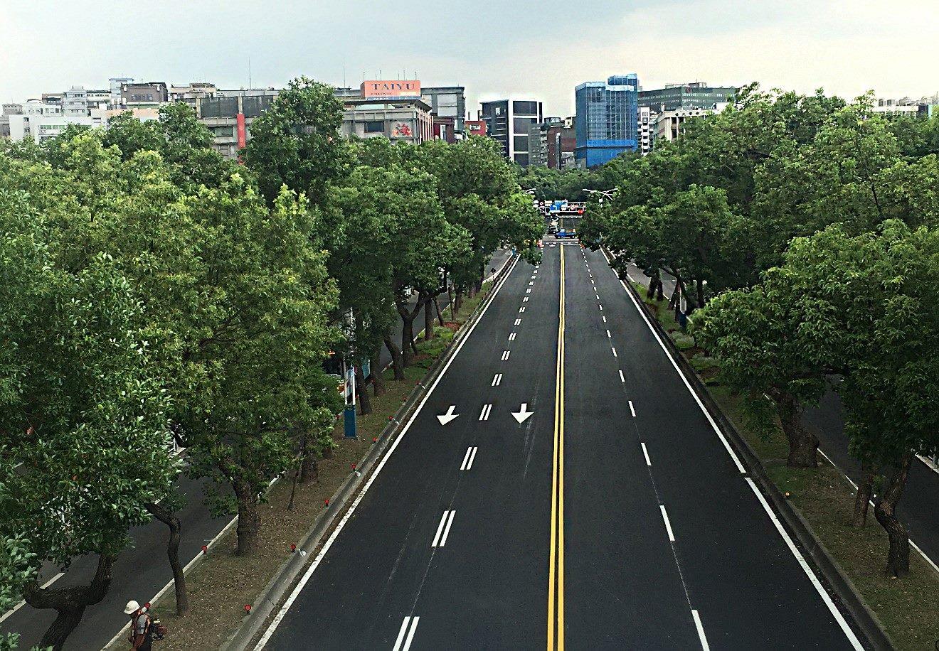 臺北市中山北路3段路面更新後情形