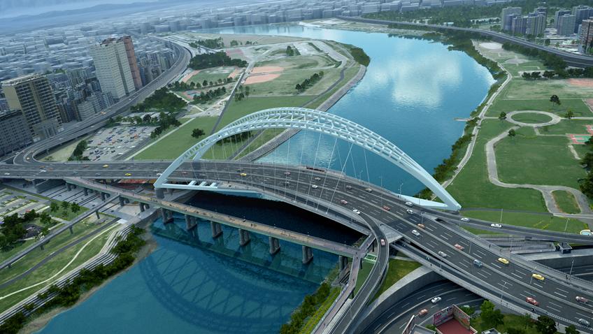 全區橋型設計模擬圖