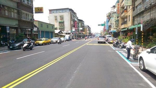 酒泉街道路更新,標線及停車格位重繪