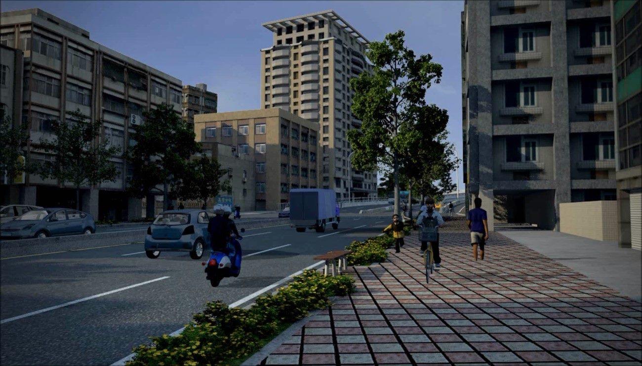 臺北市重慶南路高架橋拆除後恢復為平面道路模擬示意圖